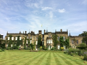 The lawn where Lizzy is walking when Mr Darcy appears
