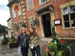 Outside the Red Lion Inn (featured as the Meryton Assembly Rooms)
